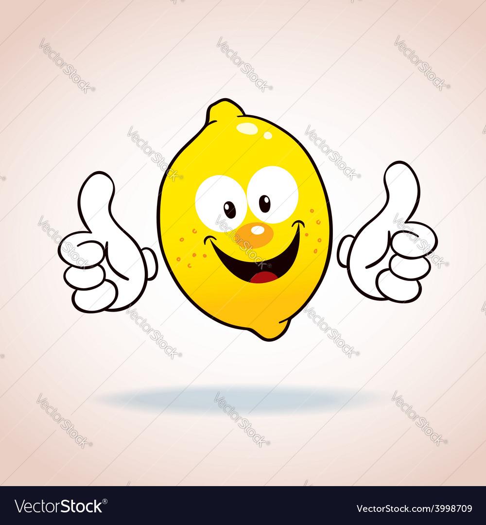 Lemon mascot cartoon character vector
