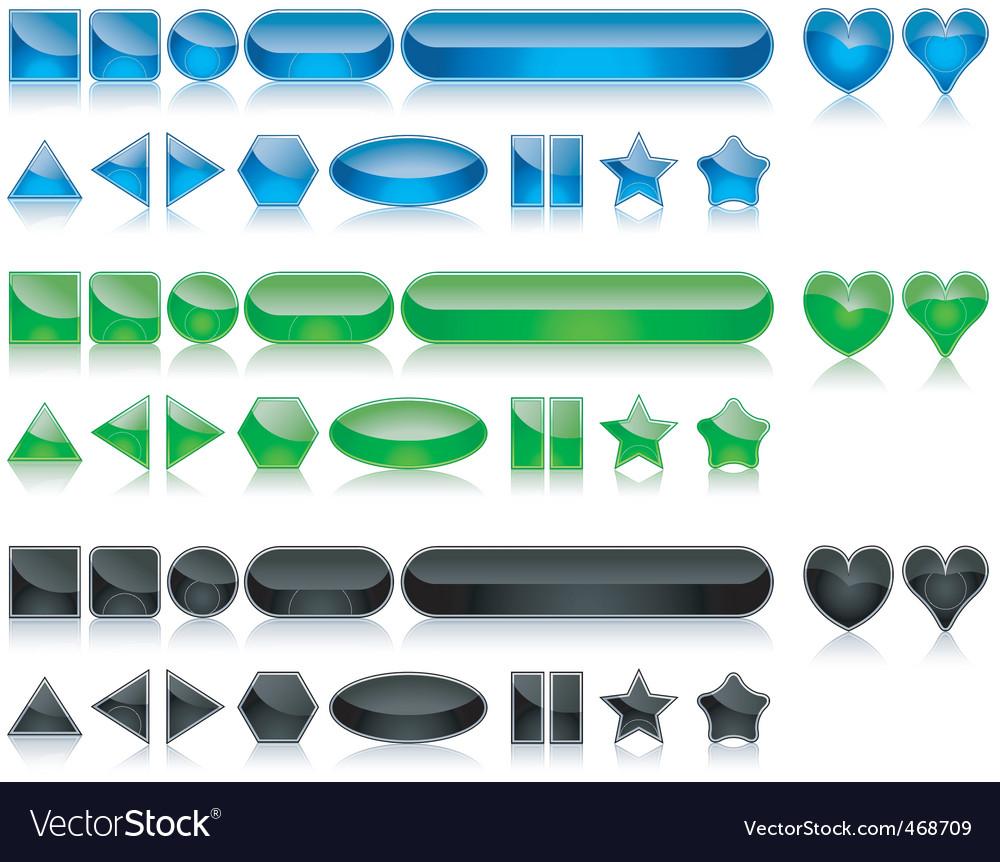Shine buttons vector