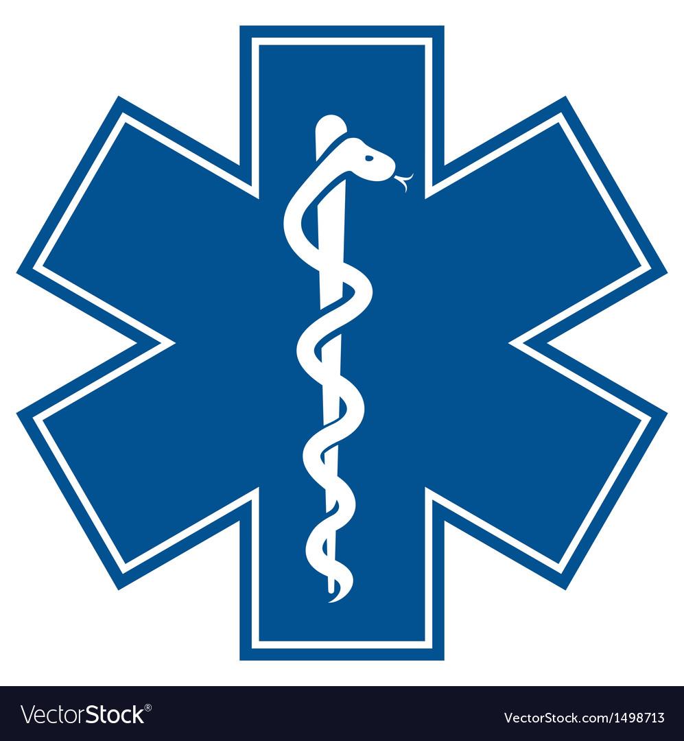 Emergency medical symbol vector