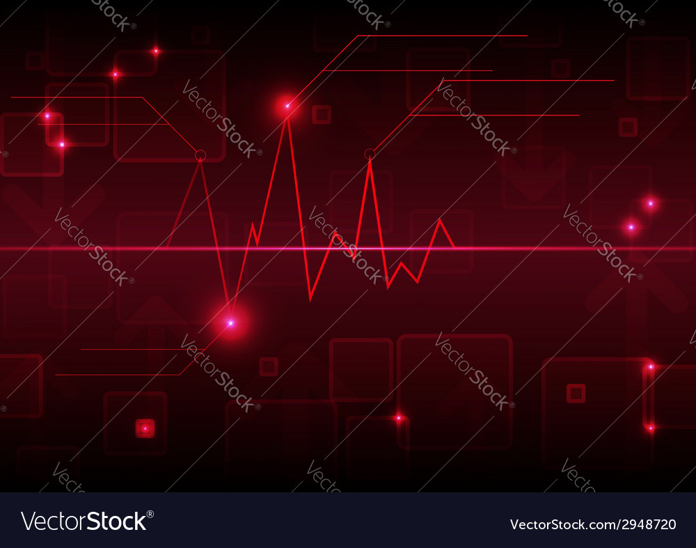 Abstract graph background vector