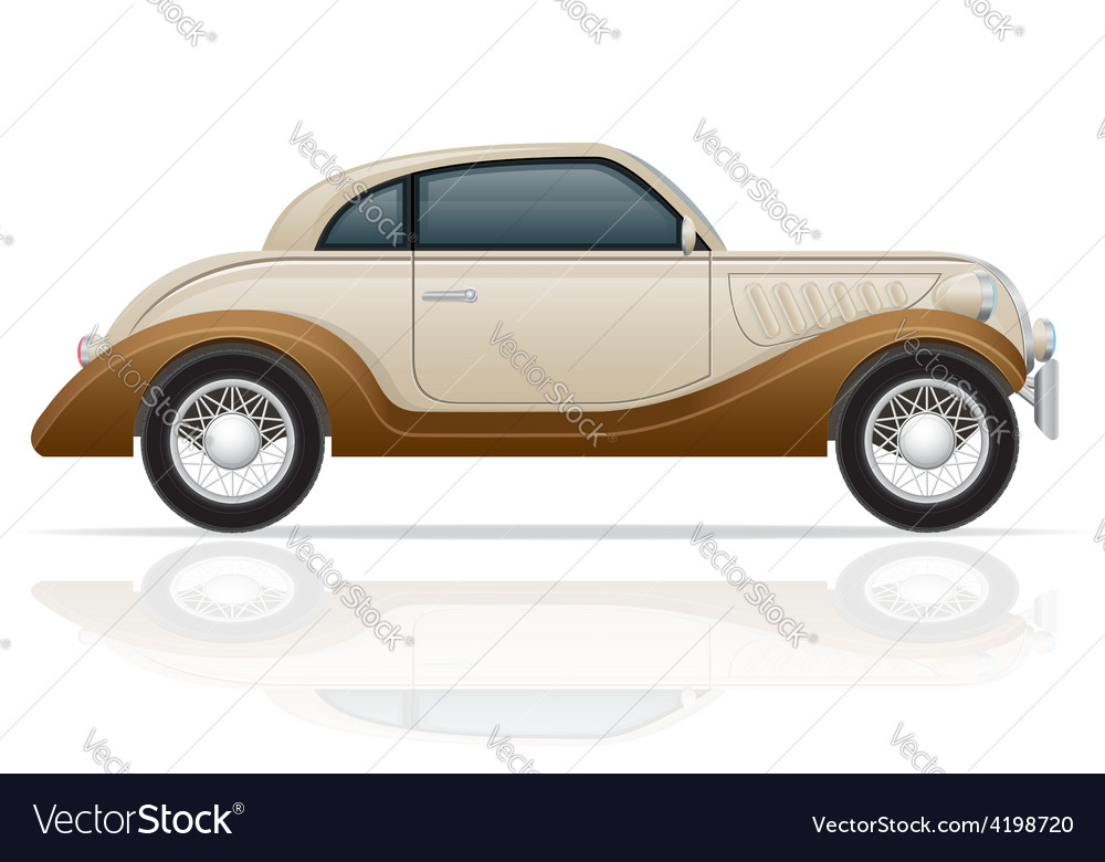 Old retro car 01 vector