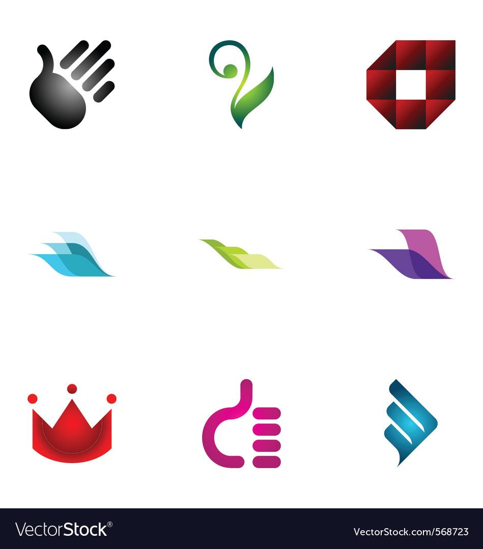 Logo design elements set 39 vector