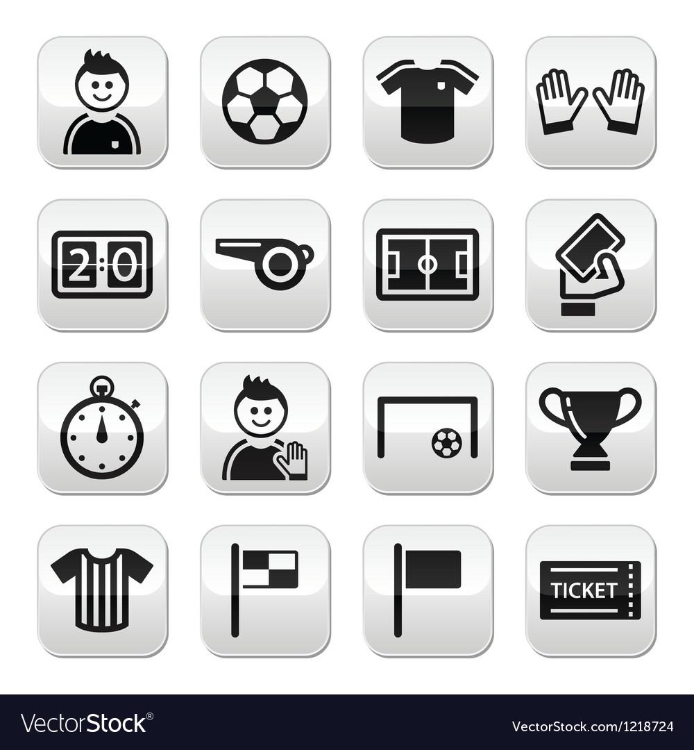 Football buttons set vector