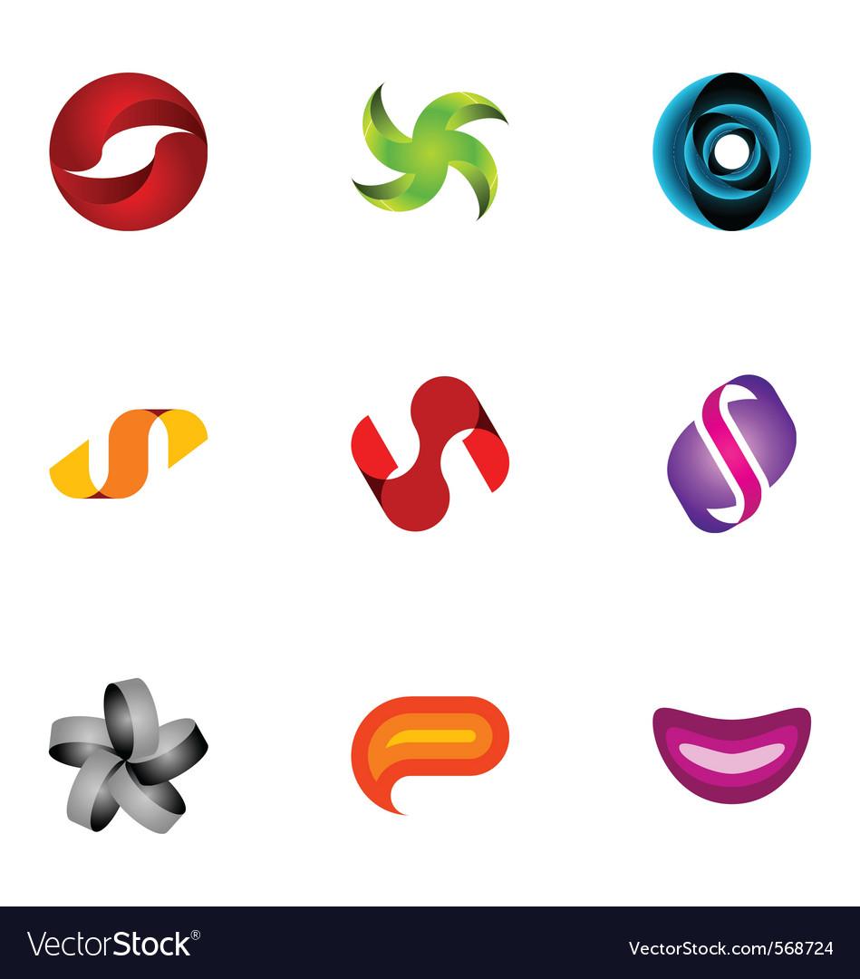 Logo design elements set 40 vector