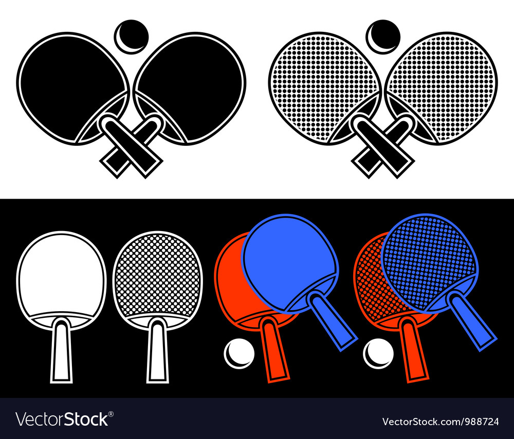 Rackets for table tennis vector