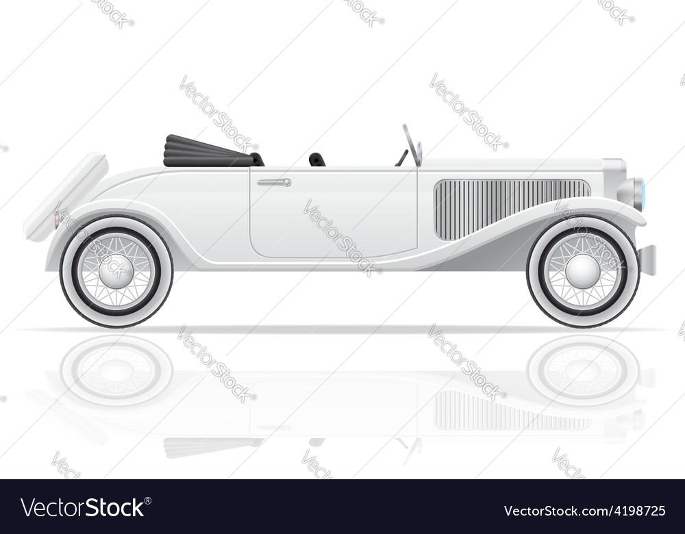 Old retro car 03 vector
