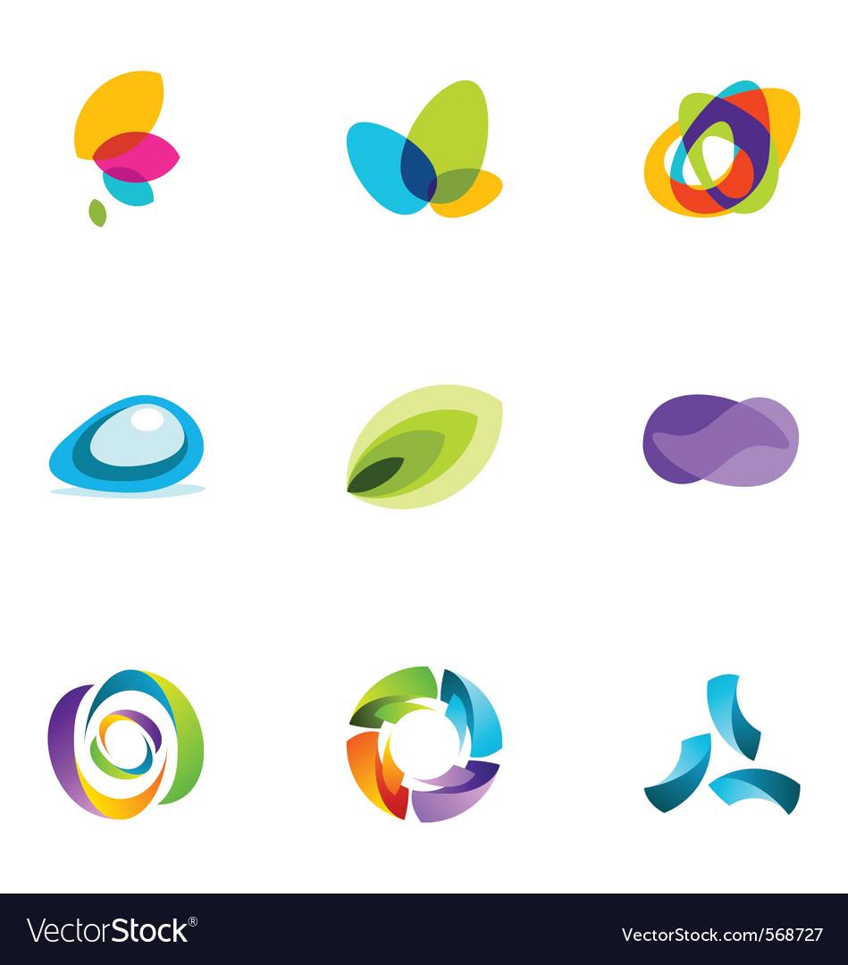 Logo design elements set 41 vector