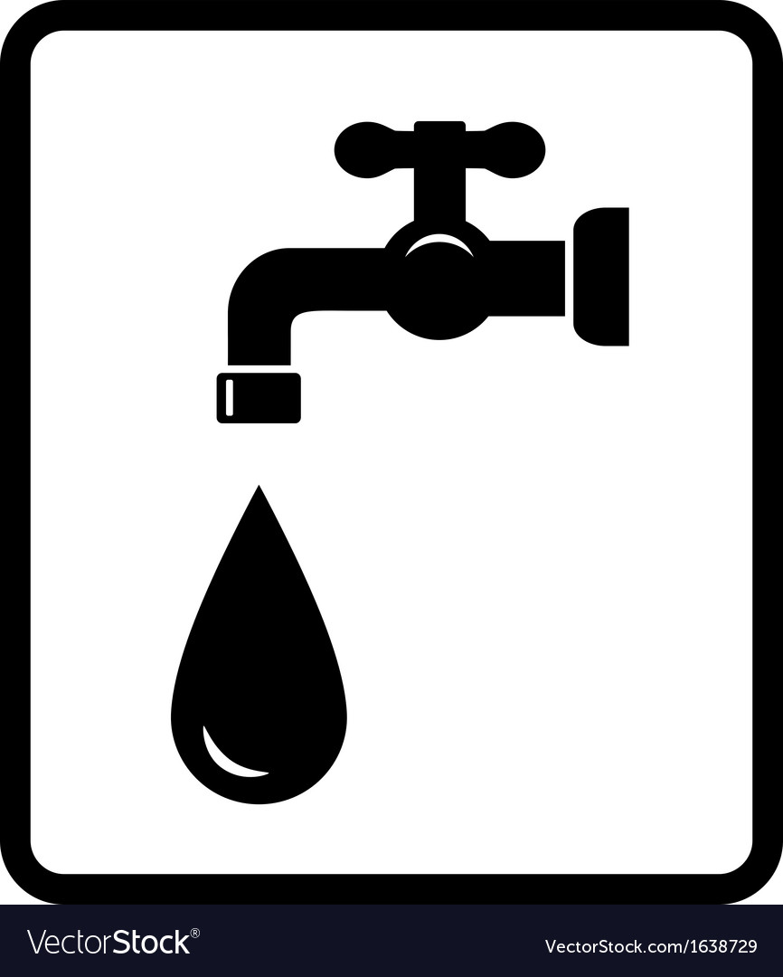 Black tap and drop vector