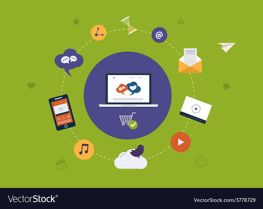Digital marketing icons vector