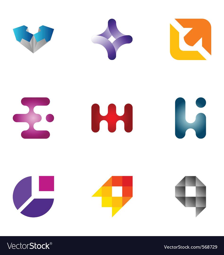 Logo design elements set 42 vector