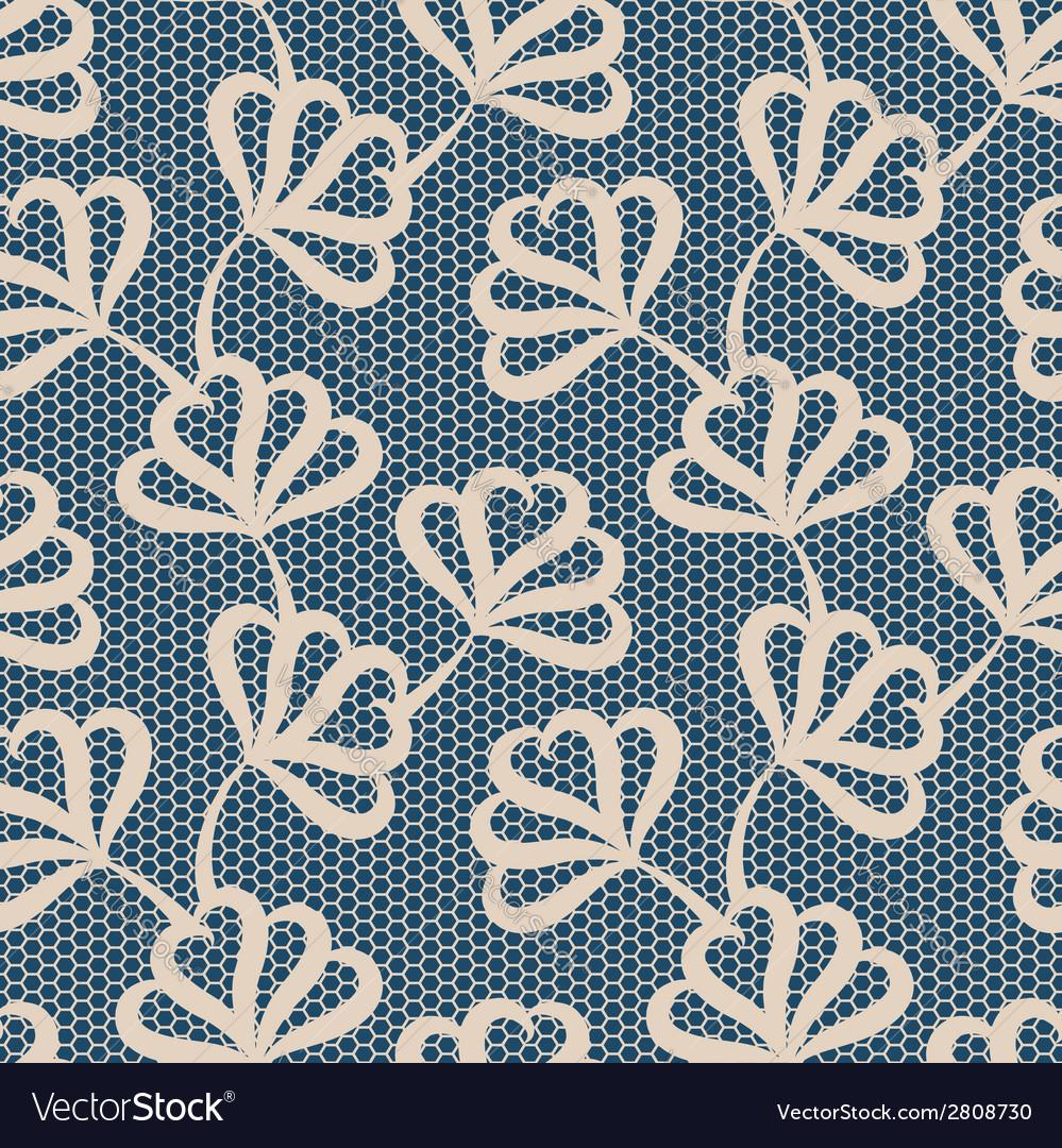 Beige seamless floral pattern vector