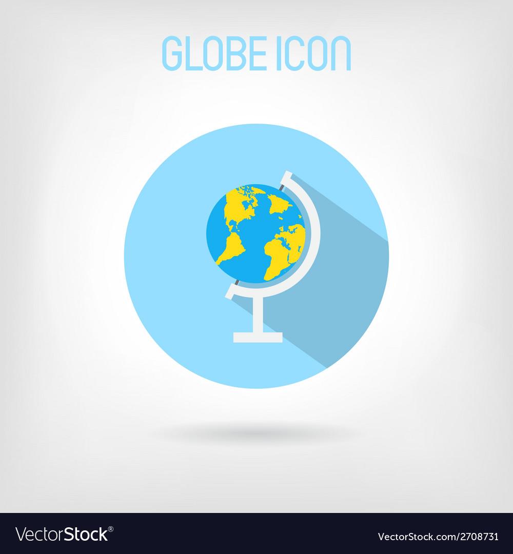 Flat-styled school globe icon vector