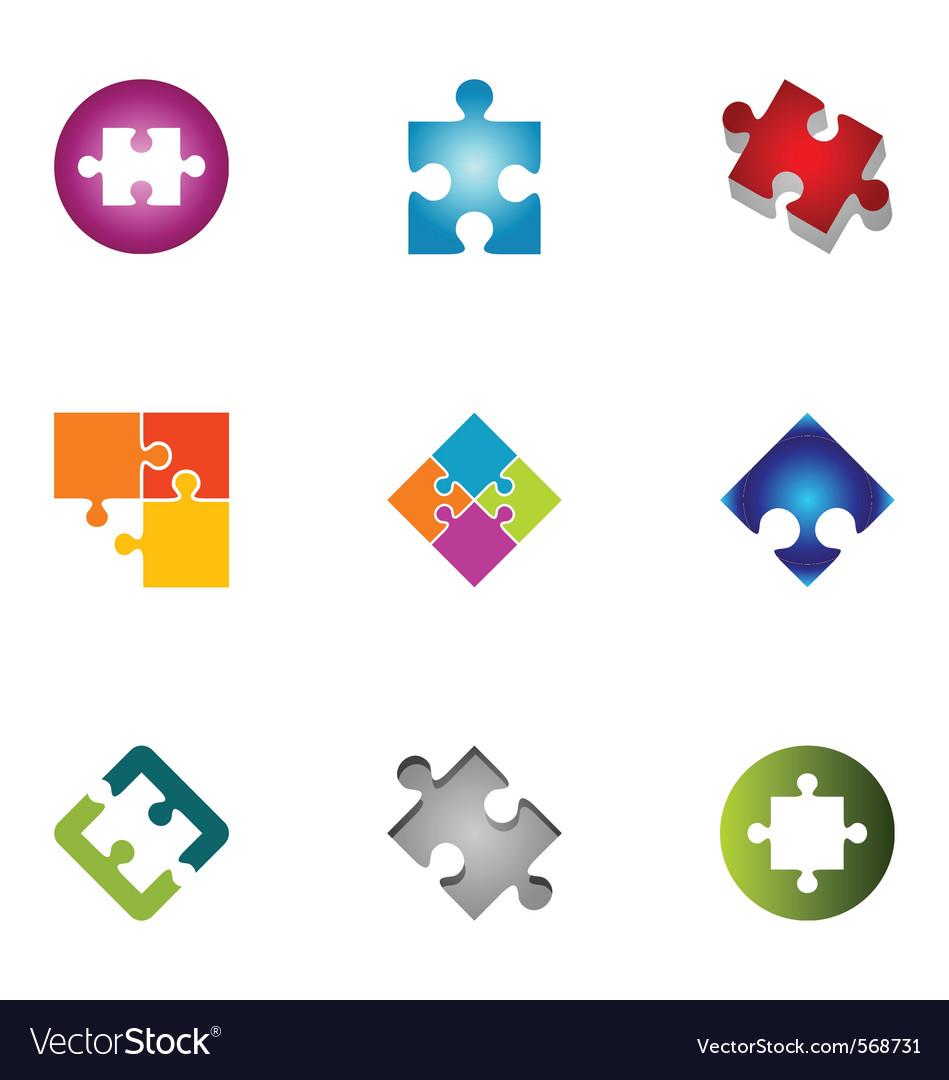 Logo design elements set 43 vector