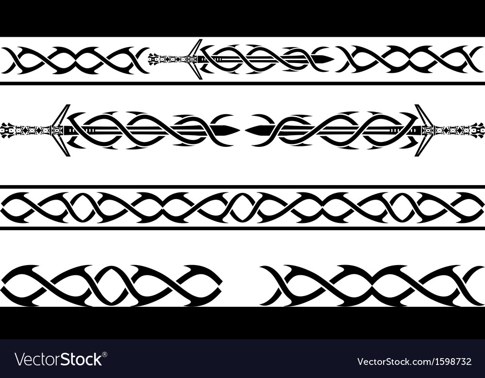 Fantasy vikings pattern vector