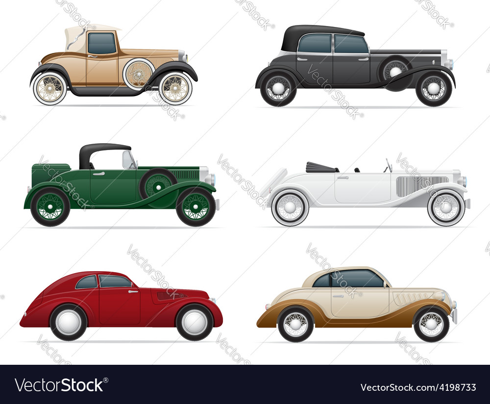 Old retro car 06 vector