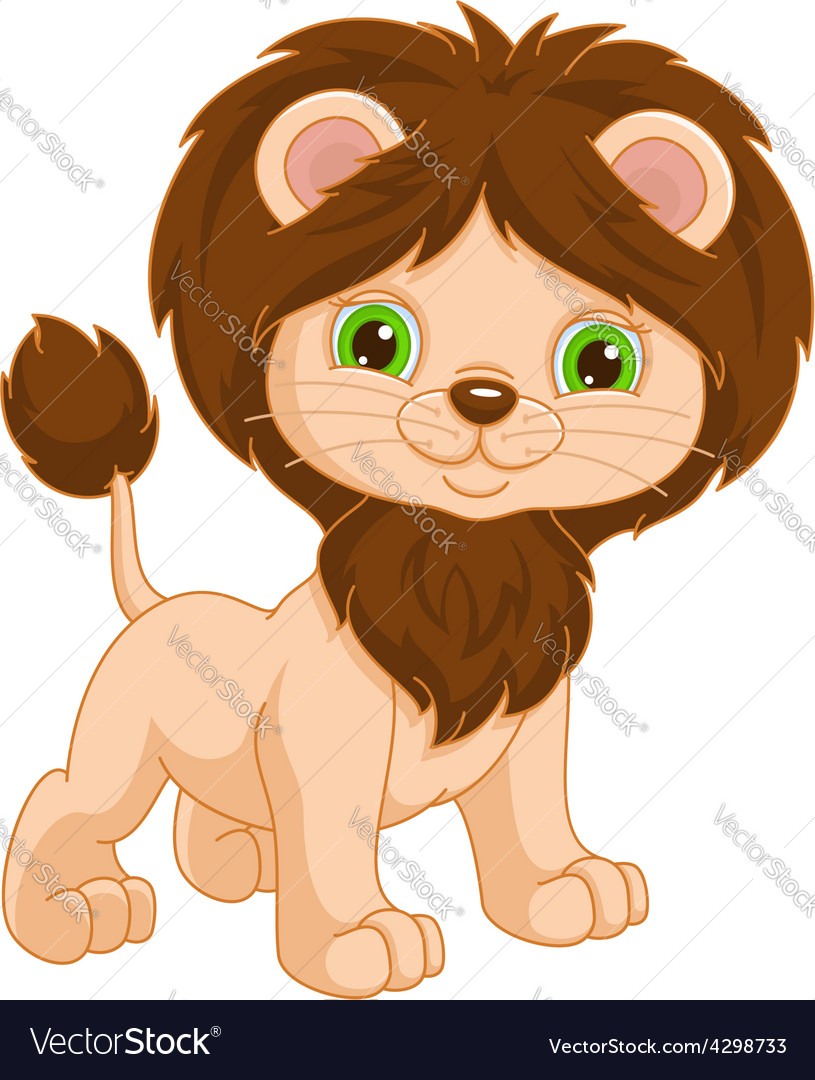 Young lion vector