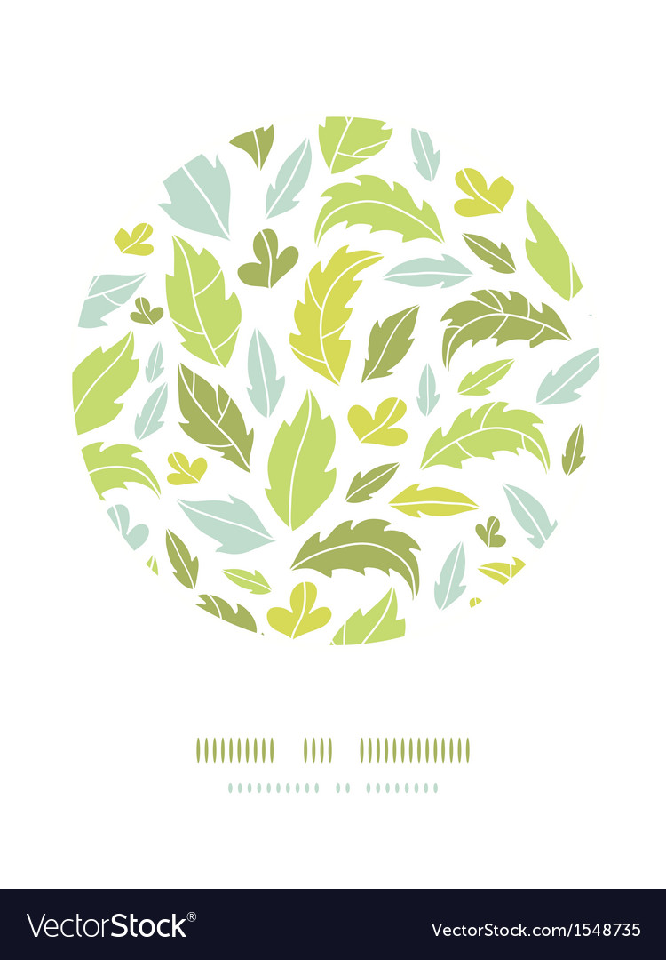 Leaves silhouettes circle decor pattern background vector