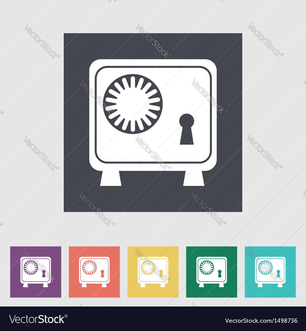 Bank safe vector