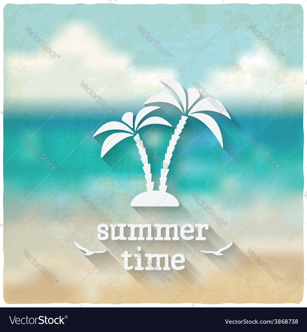 Marine background with palms vector