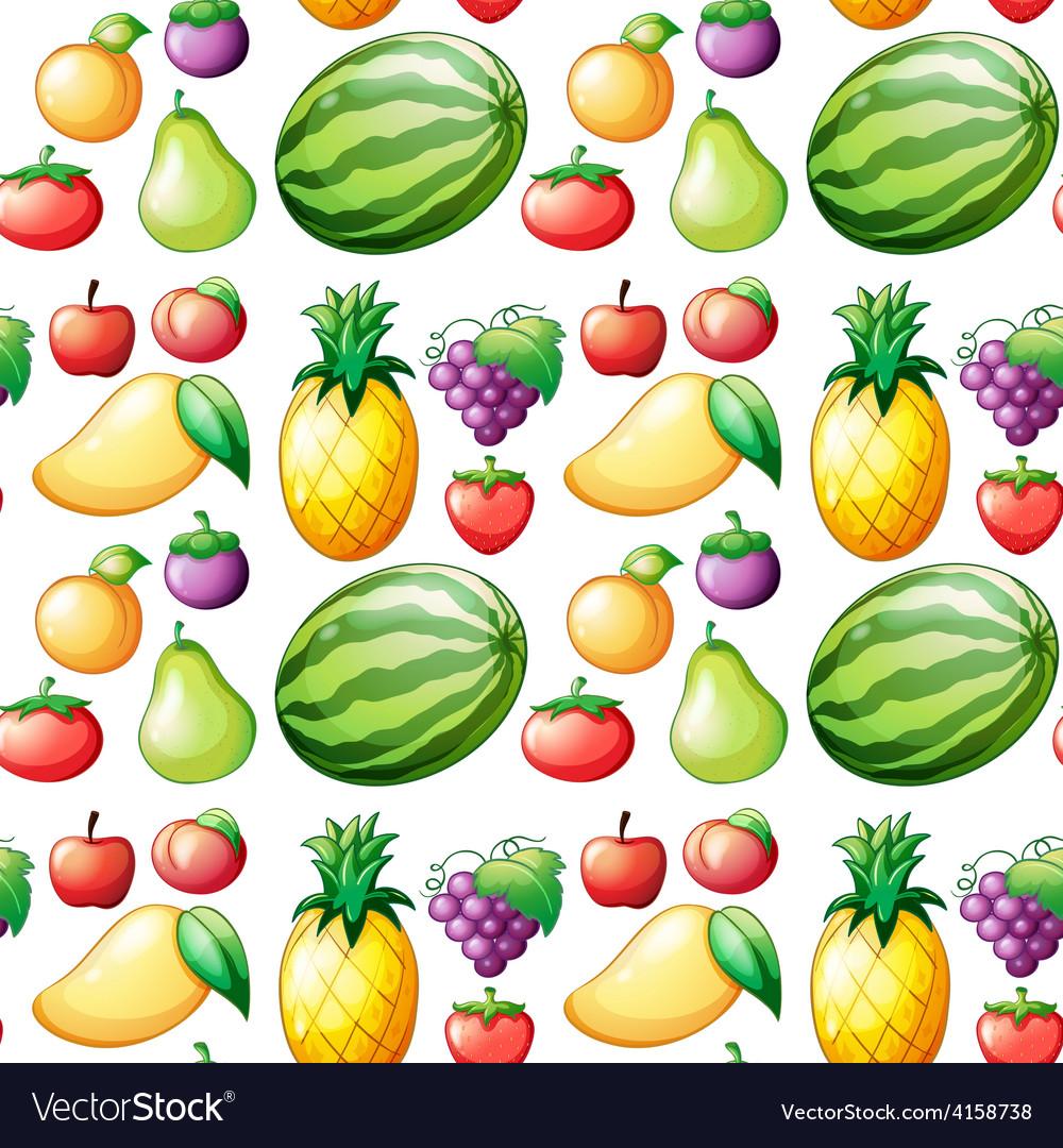 Seamless fruit vector