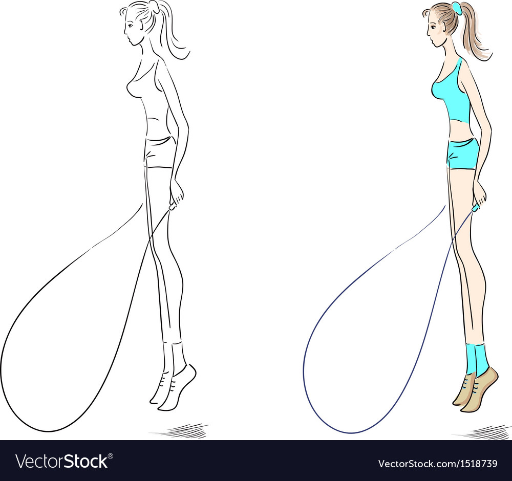 Sporty girl vector