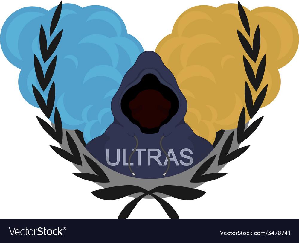 Ultras logoblue yellow vector