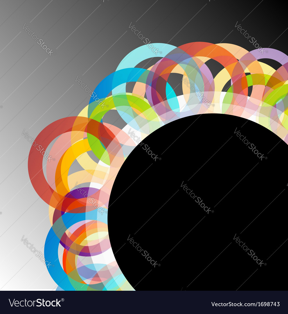 Design element with colorful rings vector