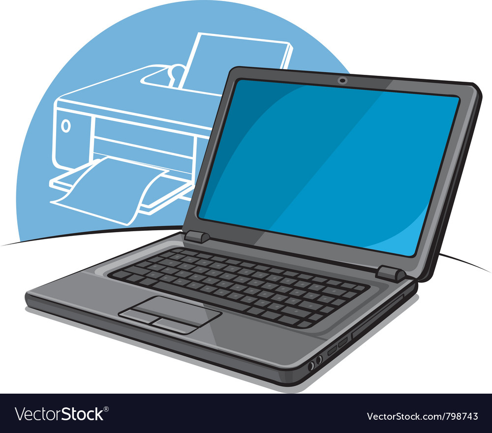 Laptop modern computer vector