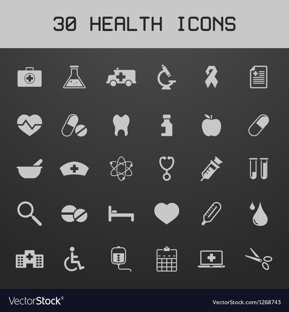 Light healthy and medicare icon set vector