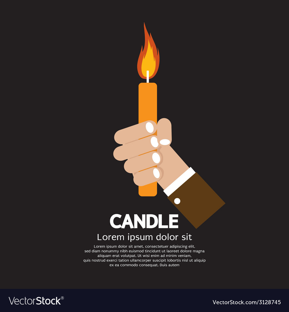 Candle in hand vector