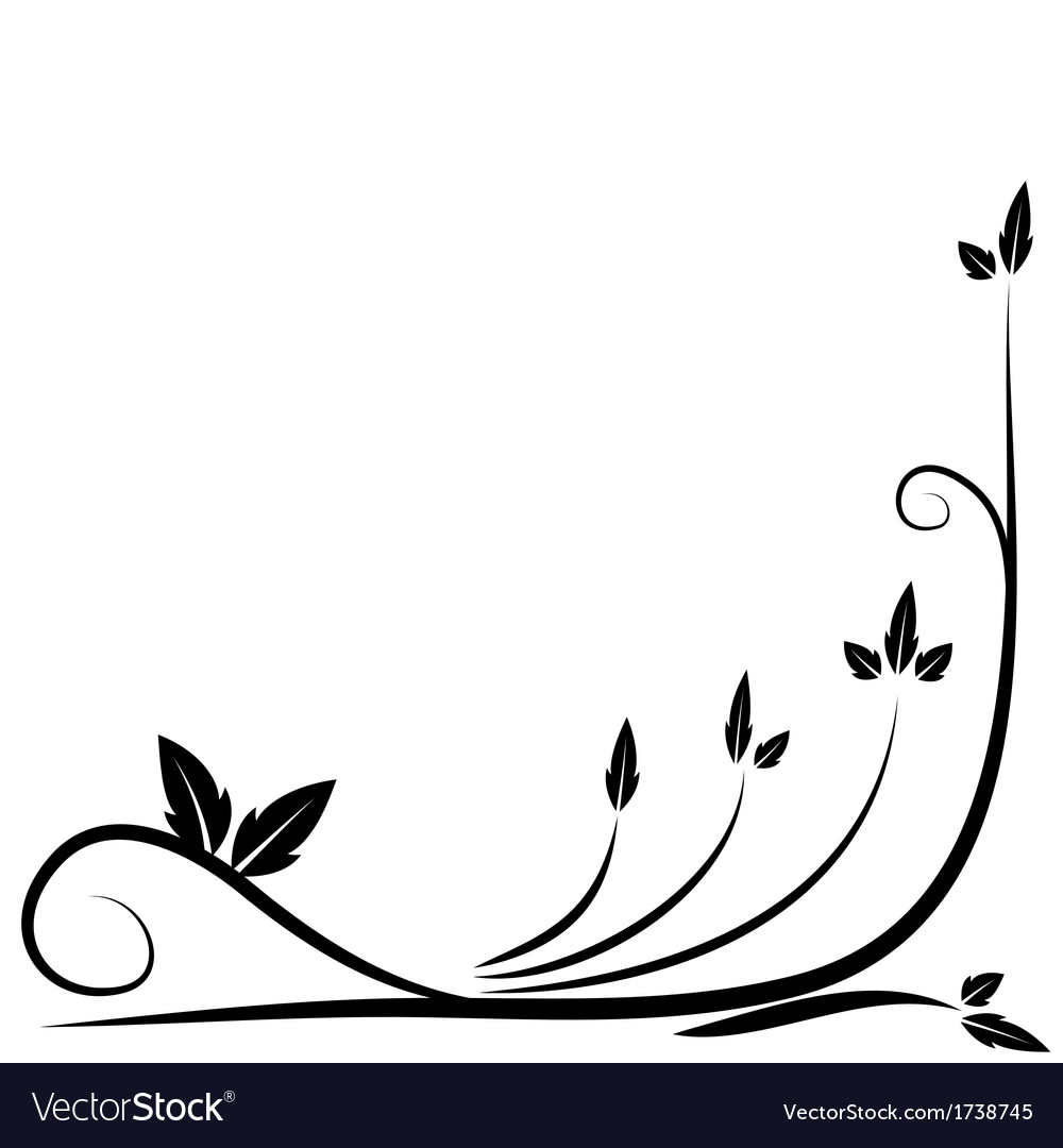 Floral black border vector