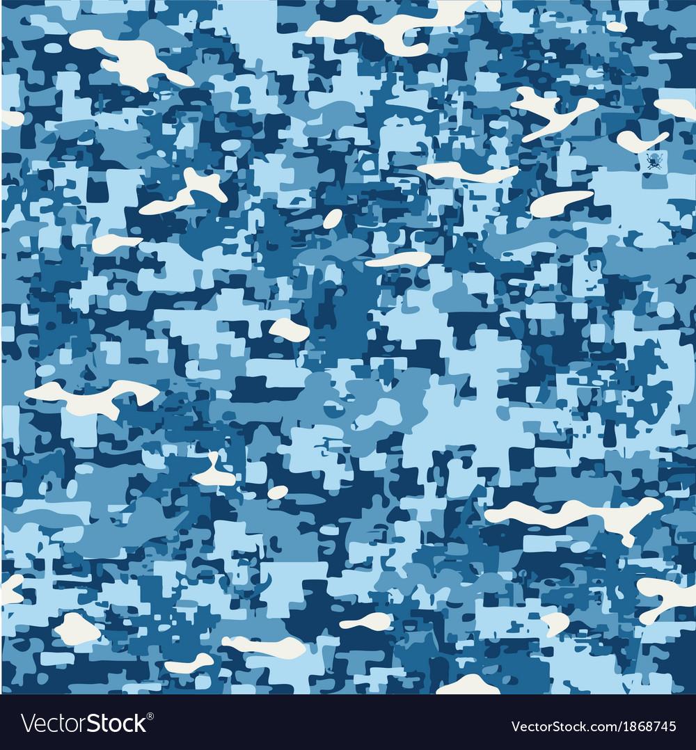 Modern naval camo vector