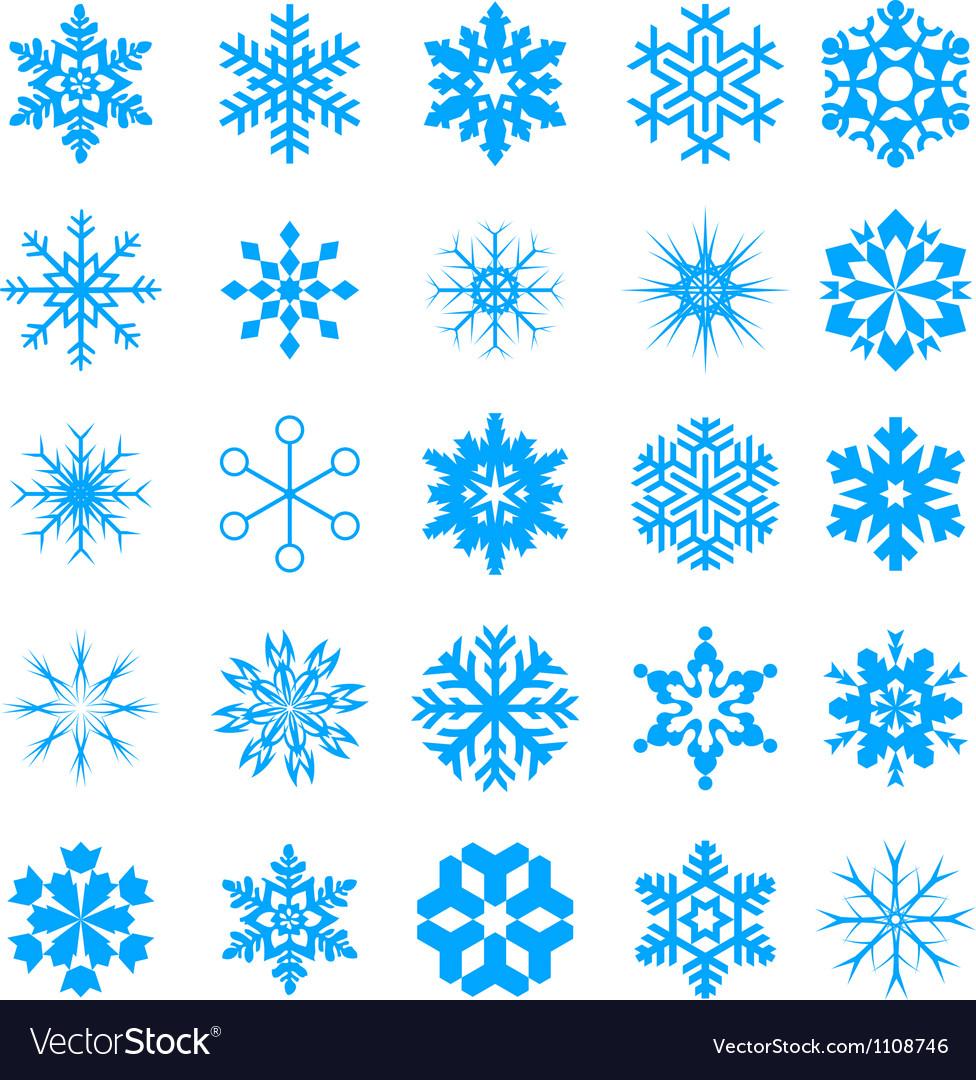 Snow crystal icon sets creative icon design serie vector