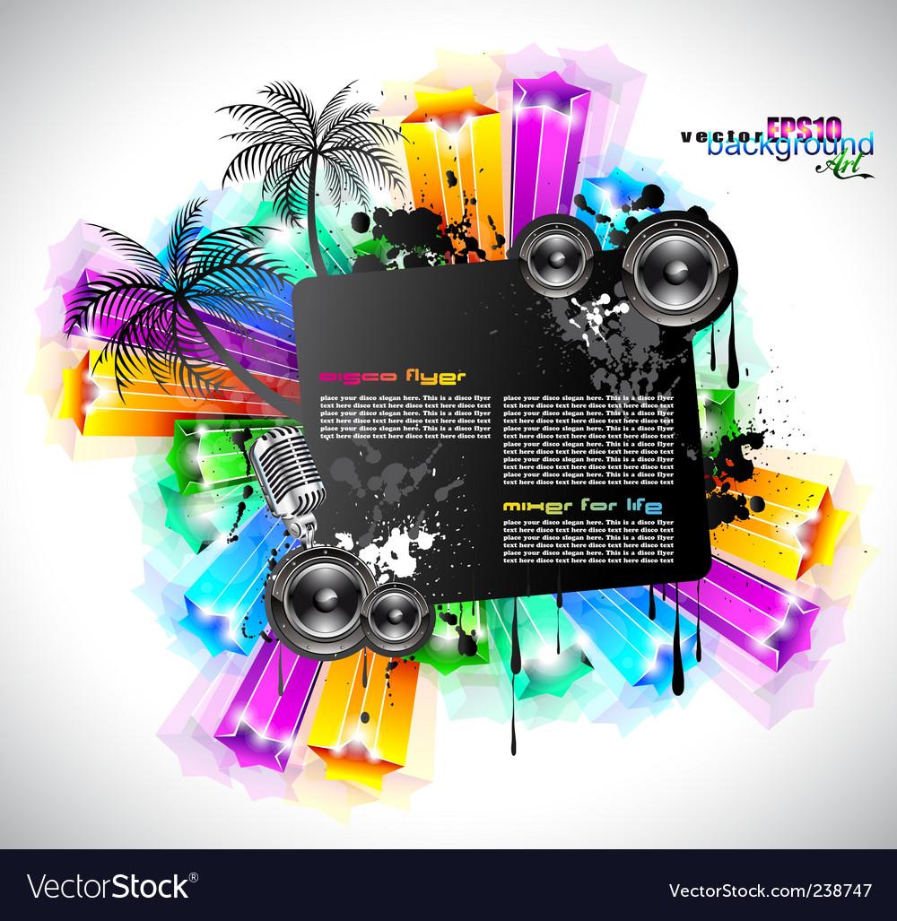 Disco event background vector