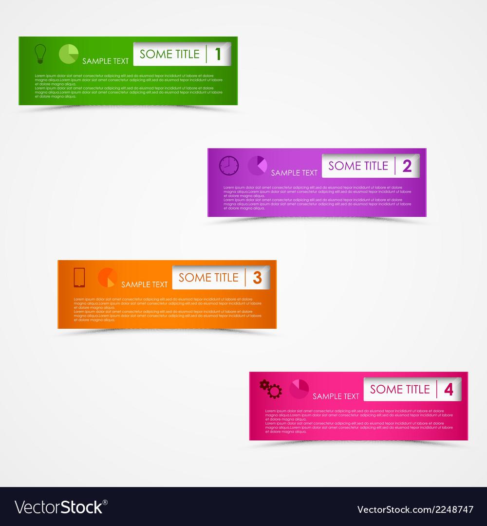 Info graphic rectangular design template vector
