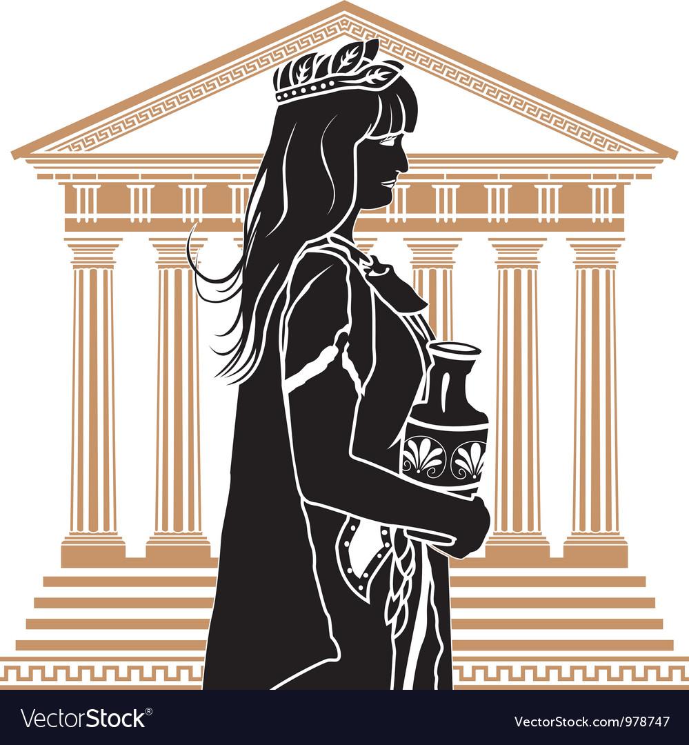 Romane on temple vector