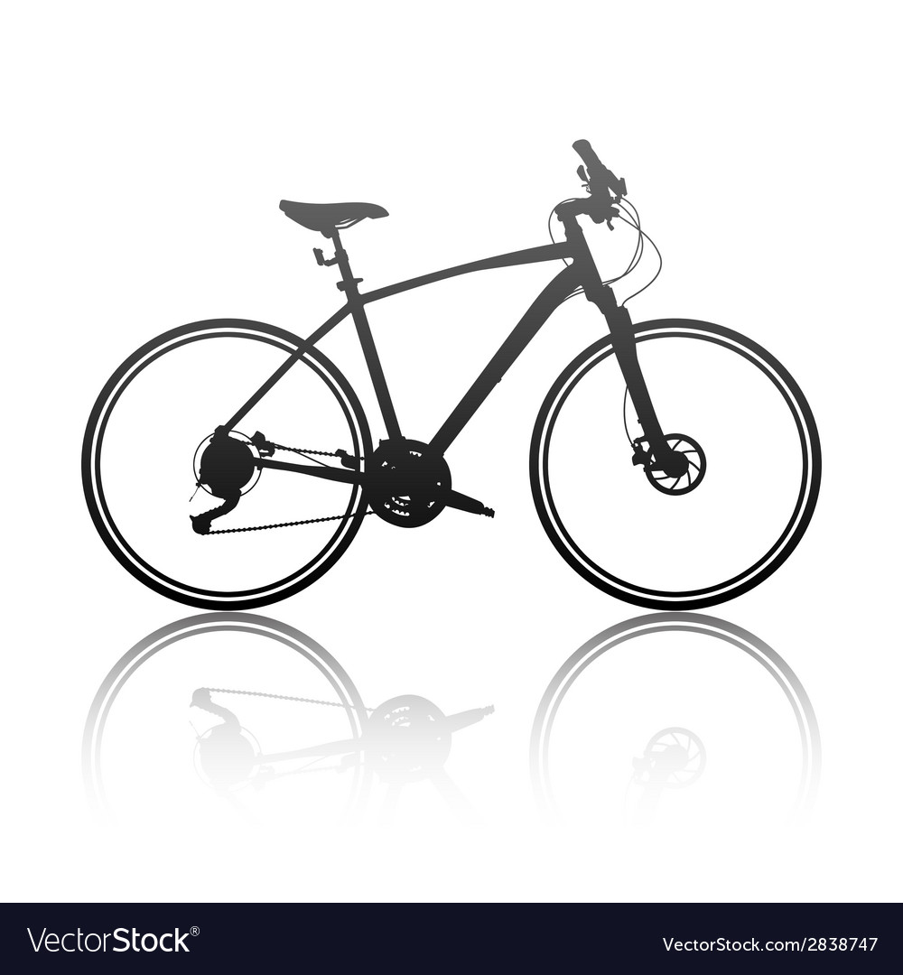 Silhouette of a hybrid bike vector