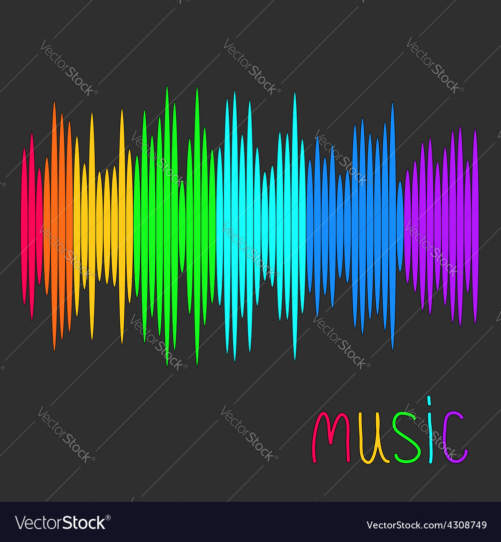 Digital abstract equalizer multicolored waveform vector