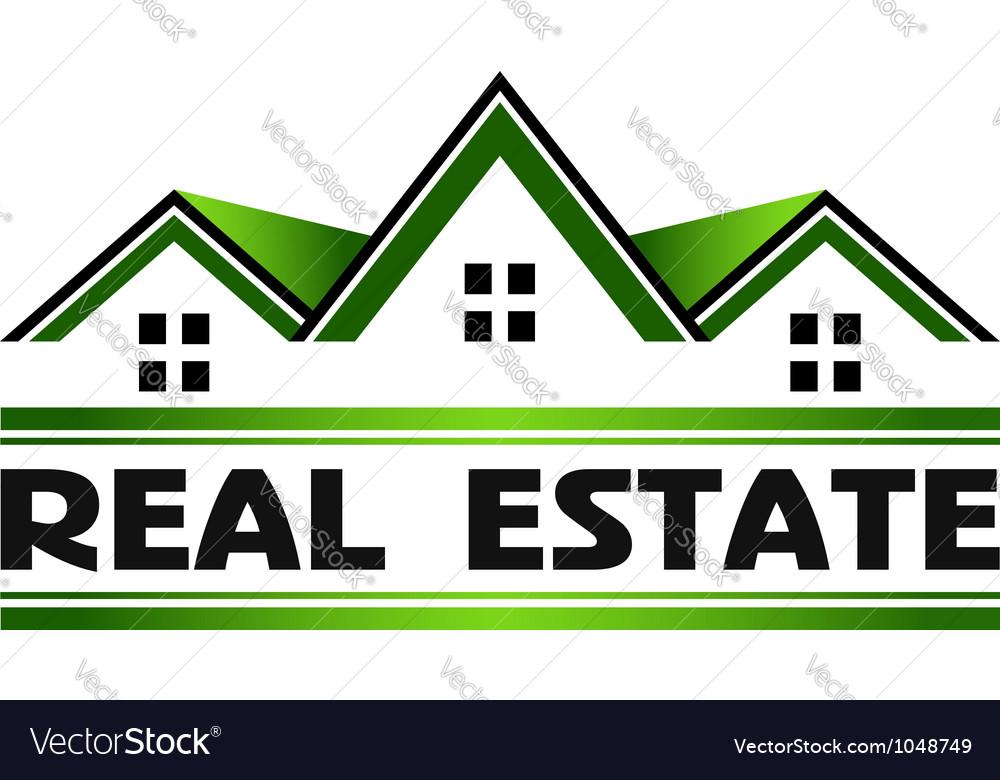 Real estate green vector