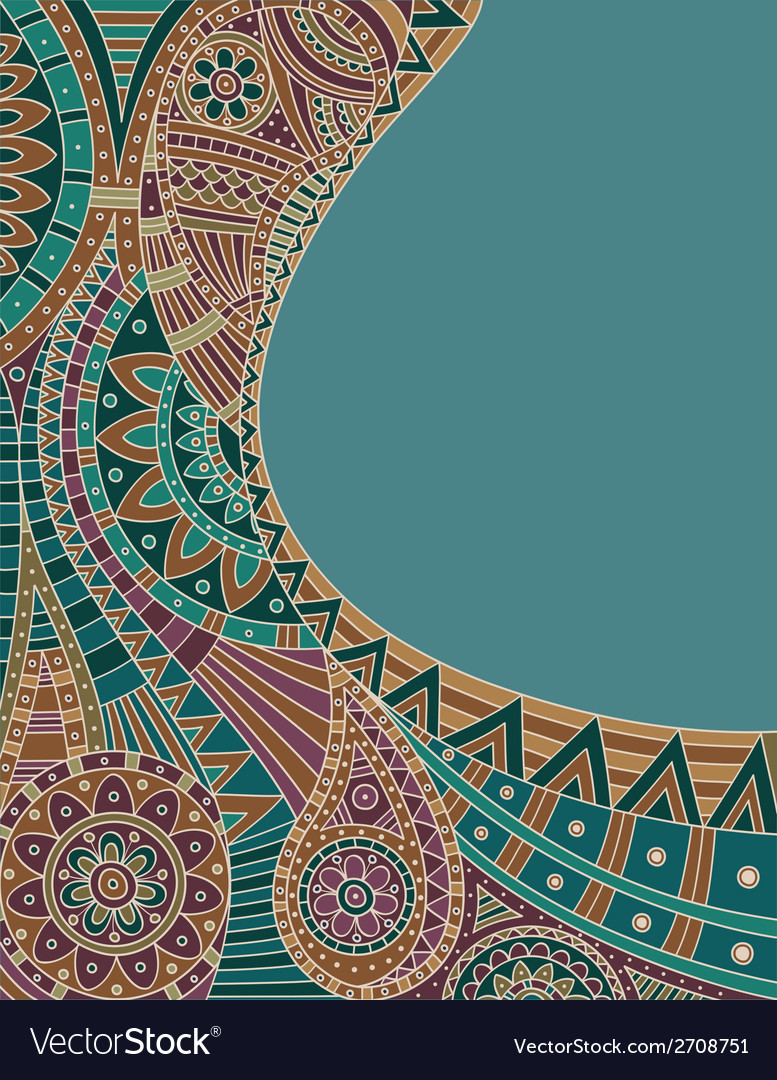 Ethnic pattern vector
