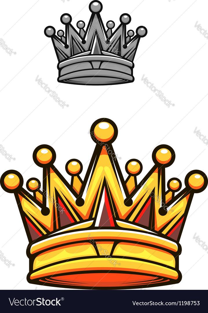 Vintage royal crown vector