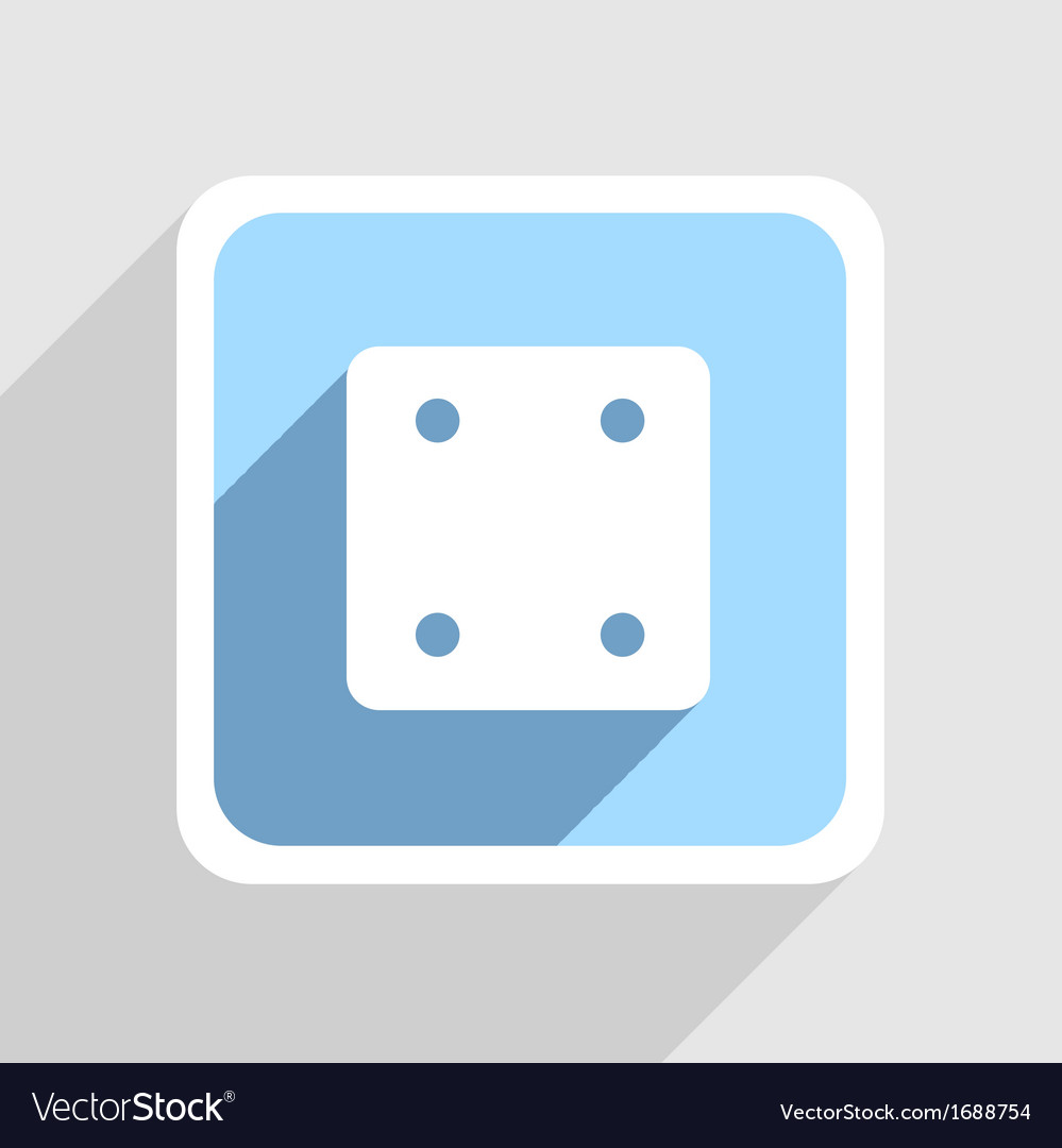 Blue icon on gray background eps10 vector