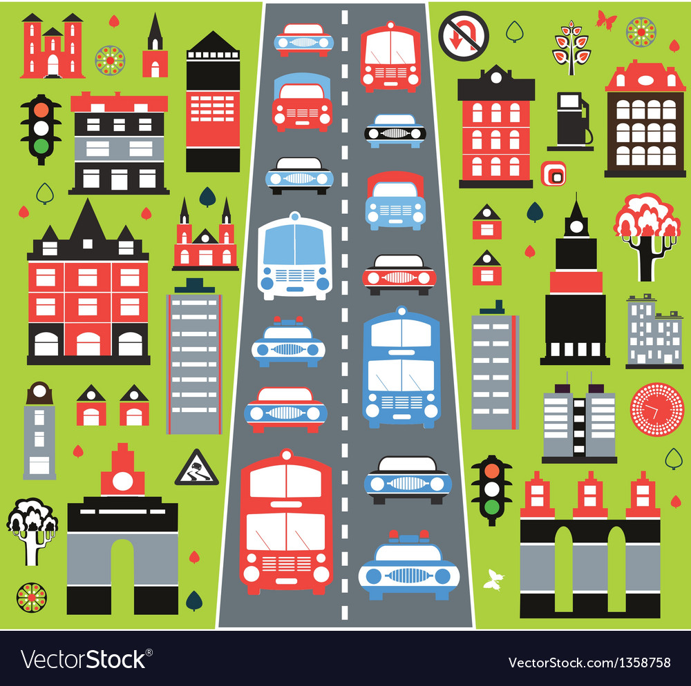 Urban automobile vector
