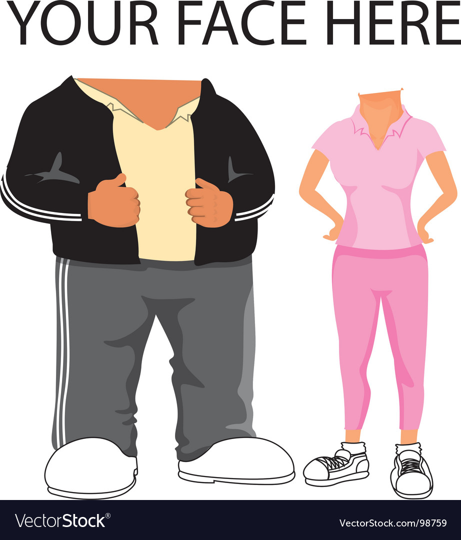 Sporty cartoon template vector
