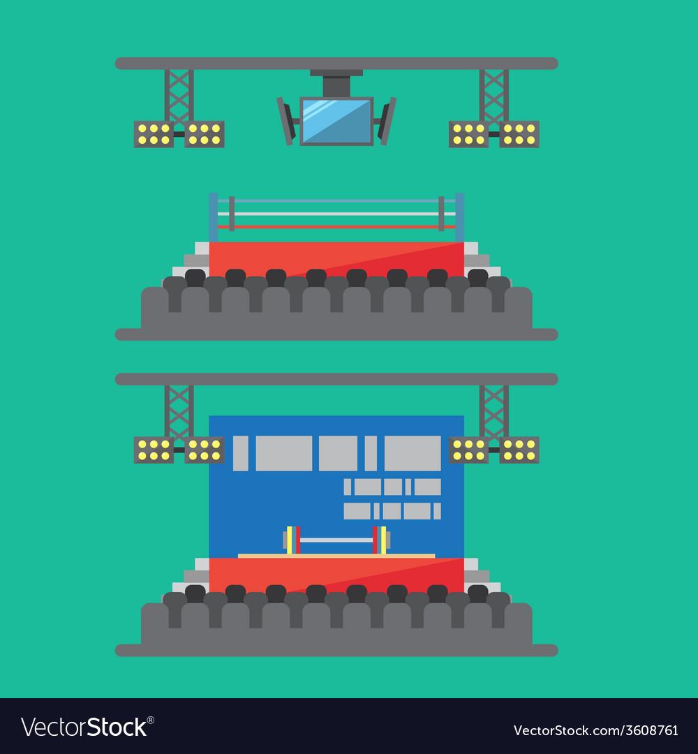 Flat design of sport stadium vector