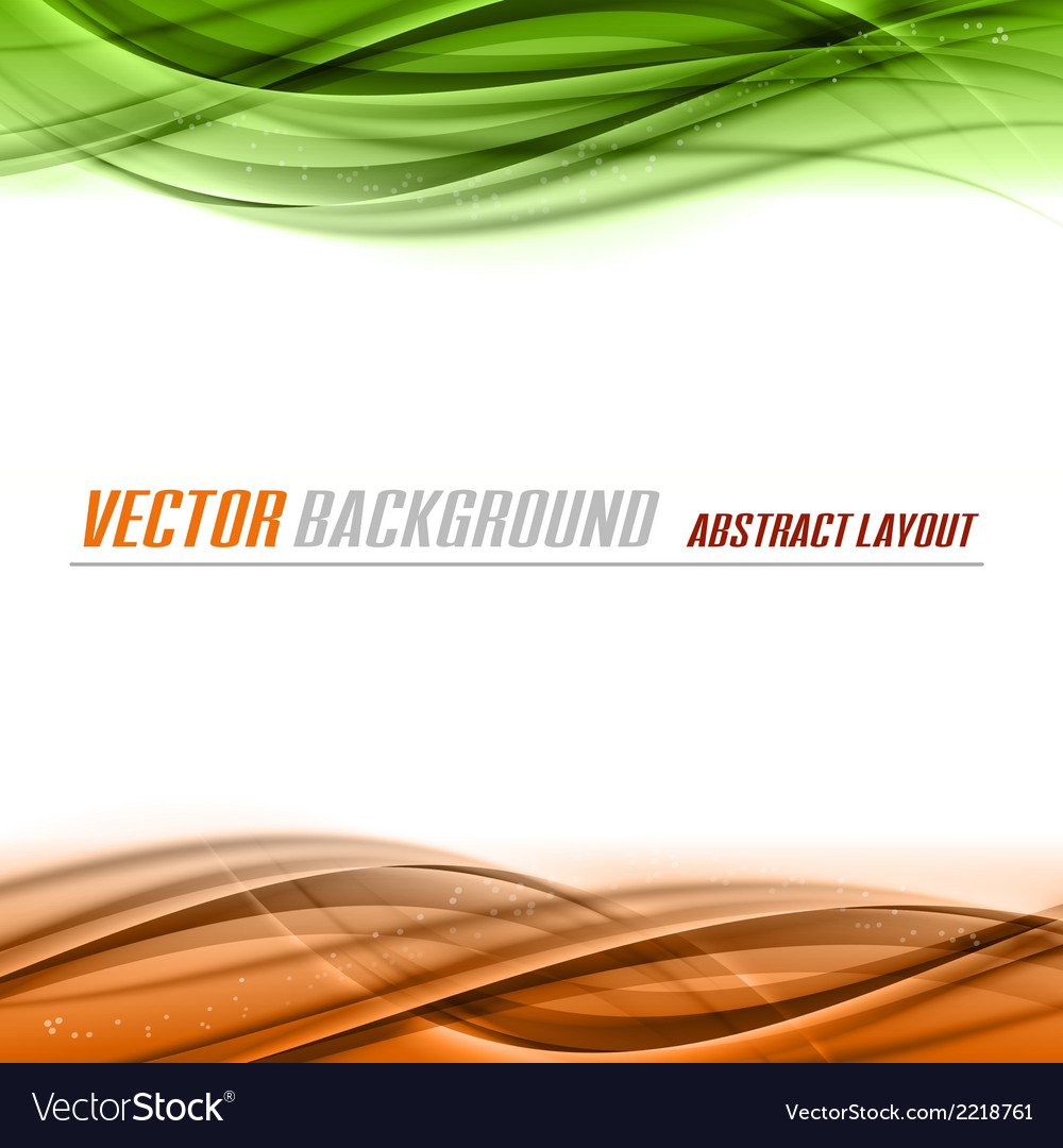 Green orange vector