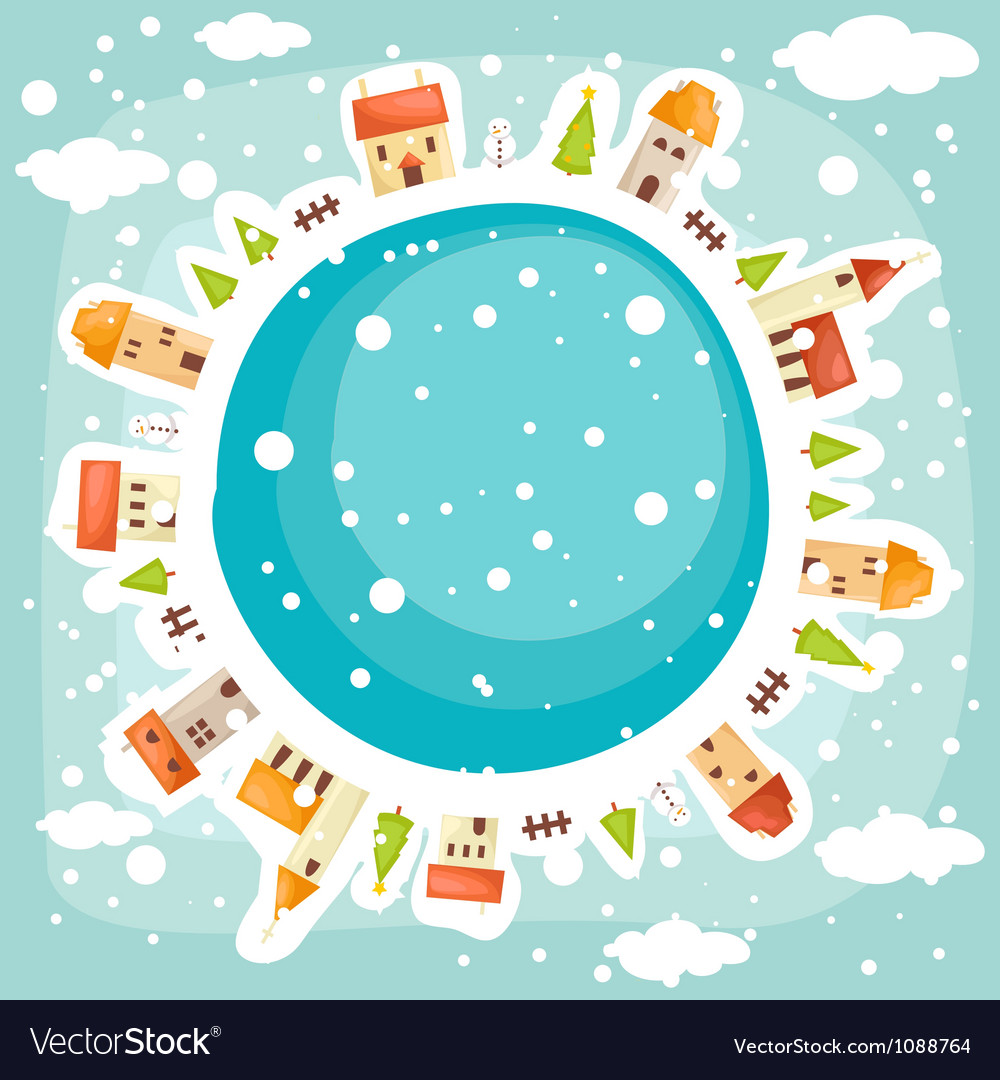 Earth background winter vector