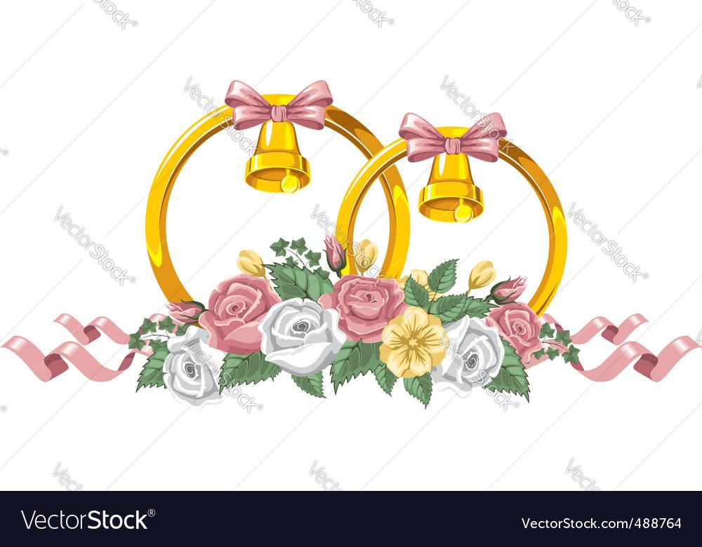 Wedding decor vector