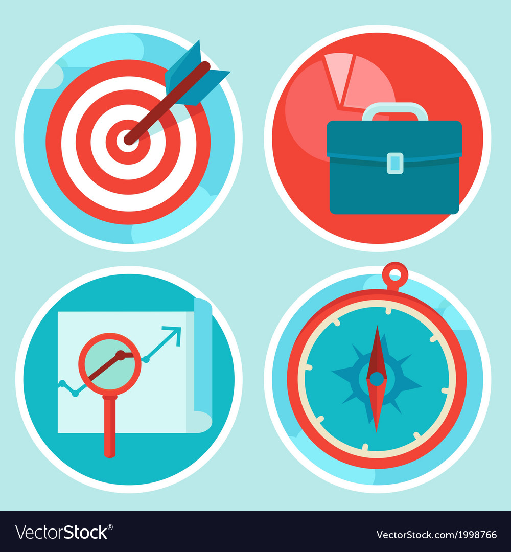 Strategy concepts vector