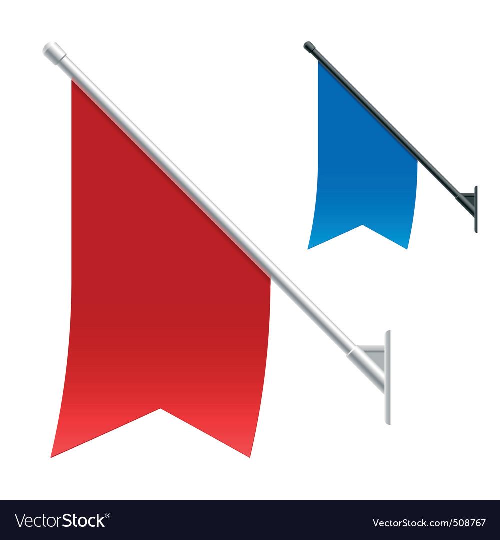 Wall flags vector